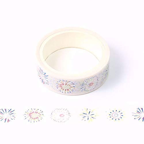 Fireworks Washi Tape for Planning /• Scrapbooking /• Arts Crafts /• Office /• Party Supplies /• Gift Wrapping /• Colorful Decorative /• Masking Tapes /• DIY