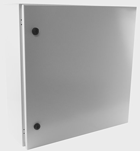 Yuco YC-24X20X8-UL-FE Fully Enclosed (No Gland Plate) IP66 Enclosure, UL Certified, Nema 4, 16 Gauge, Single Door Hinge Cover, Wall-Mount, Backplate (24 x 20 x 8) ()