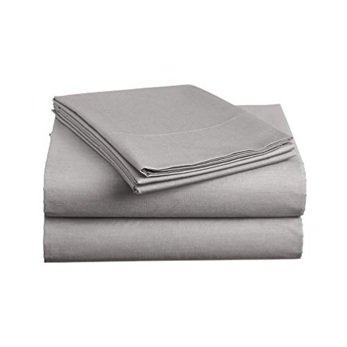 (Luxe Bedding Sets - Queen Sheets 4 Piece, Flat Bed Sheets, Deep Pocket Fitted Sheet, Pillow Cases, Queen Sheet Set -)