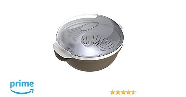 Bama Cooky recipiente para la cocción en microondas, plástico, gris, 25 x 25 x 12,5 cm