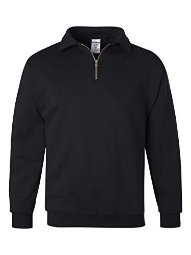 JERZEES Mens SUPER SWEATS 1/4-Zip Sweatshirt with Cadet Collar, 3XL, Blk ()