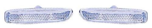 (Go-Parts PAIR/SET OE Replacement for 2000 BMW 323i Side Repeater Lights (Coupe + White Lens) - Left & Right (Driver & Passenger) For BMW 323i )