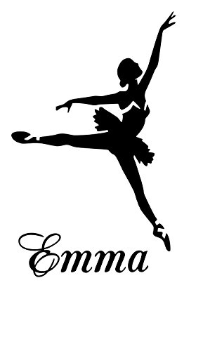 Ballet Dancers Emma name letters childrens room VINYL WALL ART STICKER DECAL