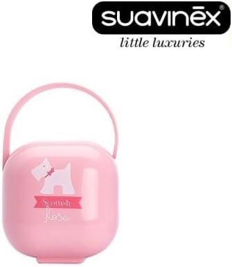 Suavinex Escocés – 1 x Caja para chupete Dummy Chupete/rosa (0 m +): Amazon.es: Bebé