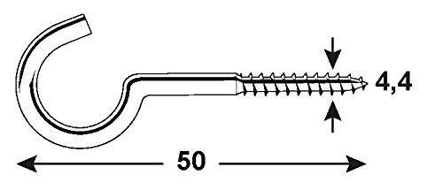 Connex KL5190050 - Gancho atornillable (acero): Amazon.es: Bricolaje y herramientas