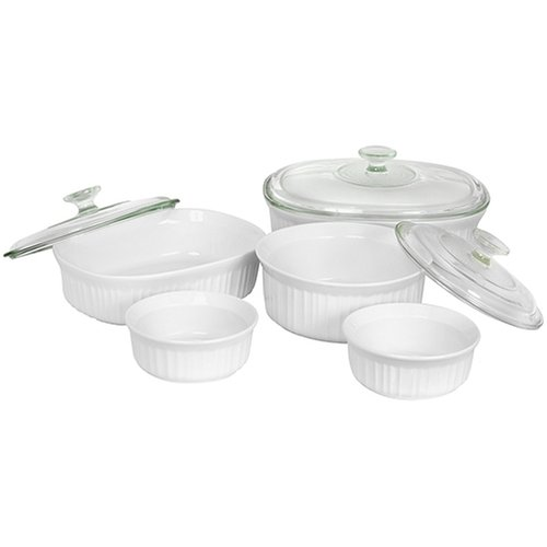 CorningWare French White 8-Piece Bake and Serve Set