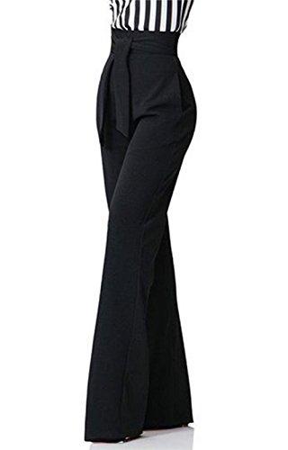 Molisry Women Casual Stretchy Straight Leg High Waisted Long Pants with Belt by Molisry (Image #3)