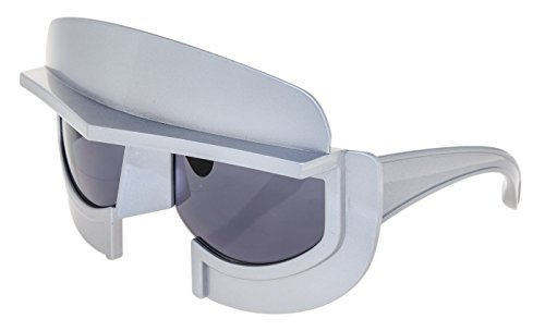 9c82daa0b4df LINDA FARROW KTZ Star Wars Oversized Mask Grey Silver KTZ11 Sunglasses