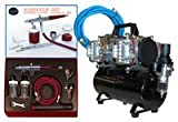 Paasche VLS-SET Airbrushing System with AirBrush-Depot TC-848 Four-Cylinder Piston Air Compressor with Tank & Case