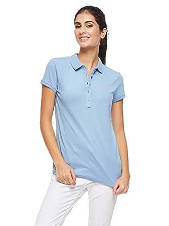 U.S. Polo Assn. Polos For Women, Sky Blue L, Size L