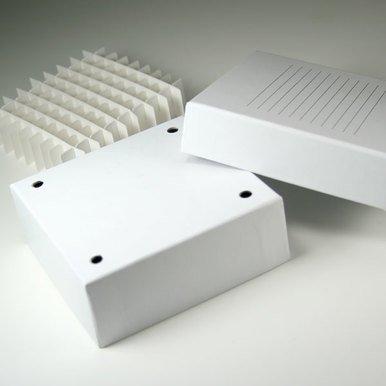 Stellar Scientific 2'' Cardboard Freezer Box with 81-Cell Divider, 5-1/4'' L x 5-1/4'' W x 2'' H, 96/CS by Stellar Scientific