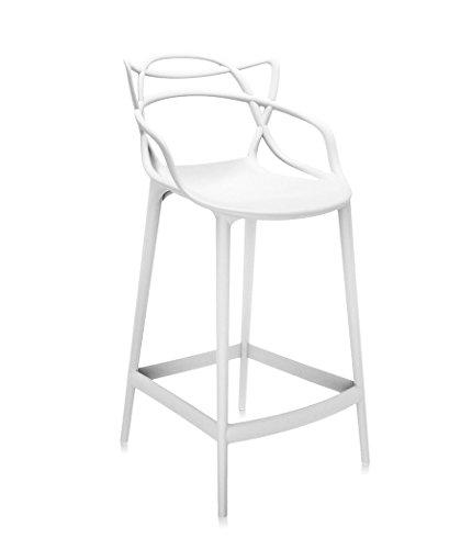 Ibh Design Tabouret Miami Bar Blanc Inspiré Masters Amazonfr
