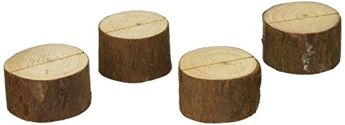 (Kate Aspen 4 Count Wood Place Card/Photo Holder, Rustic Real )