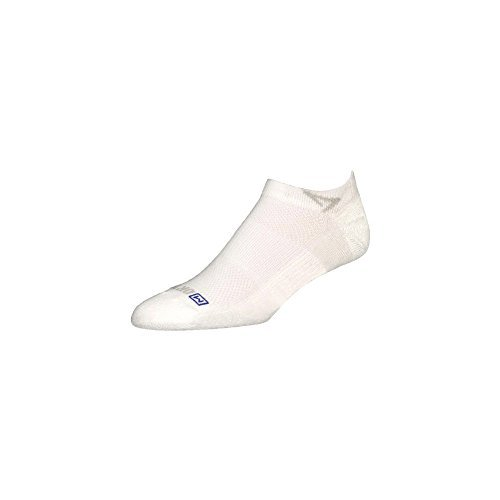 DryMax Golf Lite-Mesh Mini Crew, White, W10-12 / M8.5-10.5, 2 Pack by Drymax
