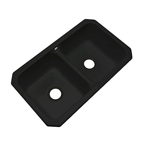 Dekor Sinks 50099UM Westport Double Bowl Cast Undermount Acrylic Kitchen Sink, 33