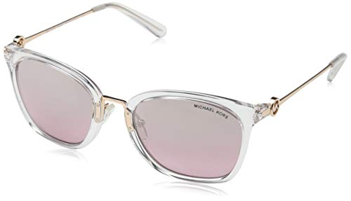 Michael Kors Women's 0MK2064 53mm Clear Crystal/Grey Pink Flash One Size