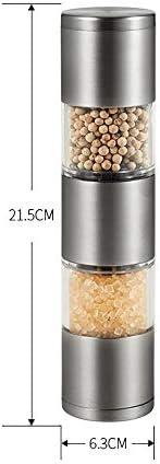 調整可能なセラミックグラインダー付き塩とコショウグラインダーミル2で1手動塩とコショウミルダブルエンドデザイン塩とコショウミルと調整可能な粗さ