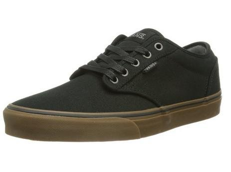 Vans Men's Atwood (12 oz Canvas) Black/Gum Skate Shoe 7.5 Men US