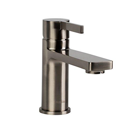 Delta Leland Widespread Bathroom Faucet (MAYKKE Friedrich Single Hole Sink Faucet, Brushed Nickel, cUPC certified, SDA1010102)