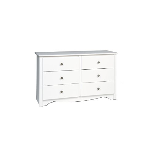 White Monterey Children's 6 Drawer
