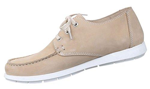 Herren Halbschuhe Schuhe Leder Außen Schnürschuhe Business Schwarz blau Beige 41-46 Beige
