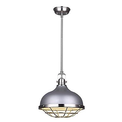 Amazon.com: Canarm IPL447B01BNY Gunnar 1 - Lámpara de techo ...