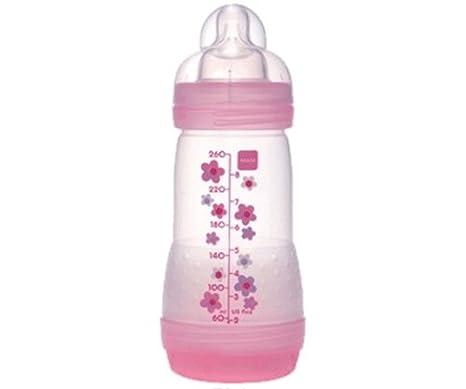 MAM – Biberón anticólicos (260 ml 0 – 6 meses flujo 2 rosa rosa