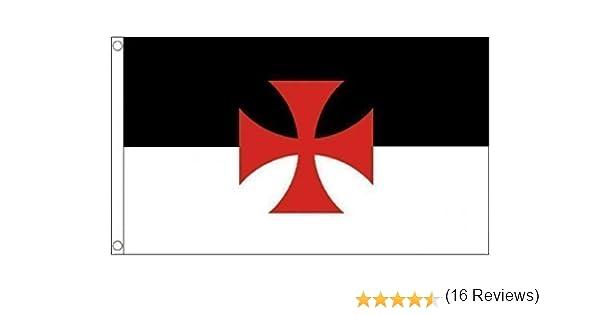 Caballeros Templarios Cruzadas 1, 5 m x 0, 9 m Bandera NUEVO: Amazon.es: Jardín