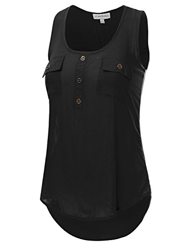JJ-Perfection-Womens-Solid-Woven-Scoop-Neck-Sleeveless-Tunic-Tank-Top