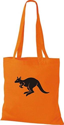 Naranja Algodón Bolso Para Shirtstown Tela Mujer De wY60tp