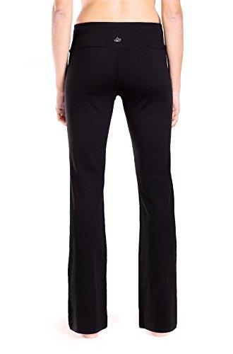Yogipace 27''/28''/29''/30''/31''/32''/33''/35''/37'' Inseam,Petite/Regular/Tall, Women's Bootcut Yoga Pants Long Workout Pants, 28'', Black Size XXL by Yogipace (Image #4)