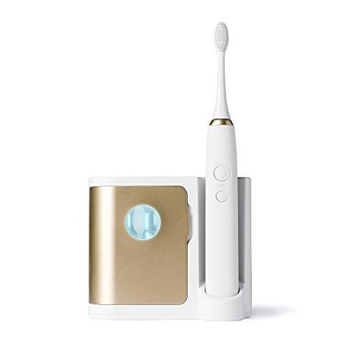 Dazzlepro Elements Sonic Toothbrush with UV Sanitizing Charging Base, Gold