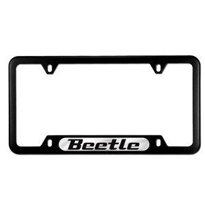 Genuine OEM Volkswagen Beetle Stainless Steel License Plate Frame - (Volkswagen Stainless Steel License Plate)