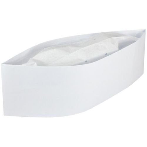 NeatGards White Round Crown Disposable Paper Overseas Cap, 21 inch -- 500 per case. by HANDGARDS