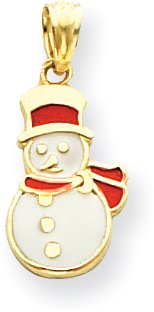 (Quality Gold Snowman Charm, 14K Yellow Gold)