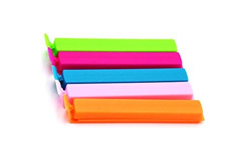 JSSHI 30 PCS Plastic Food Sealing Holder Clips Fresh-Keeping Bag Clips Sealer For Kitchen Food and Snack Bag (4 Inch)