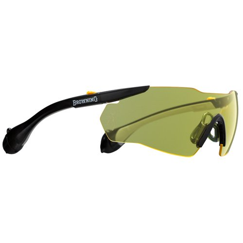 Browning Sound Shield Indoor/Outdoor Shooting Glasses, Large, Yellow