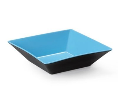 Brasilia ML-249-BL/BK Square Bowl, 12.8 quart, Blue/Black (Pack of 3)