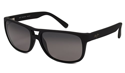 Matte Maui Sonnenbrille Jim Rubber Waterways Black rx8xYgn