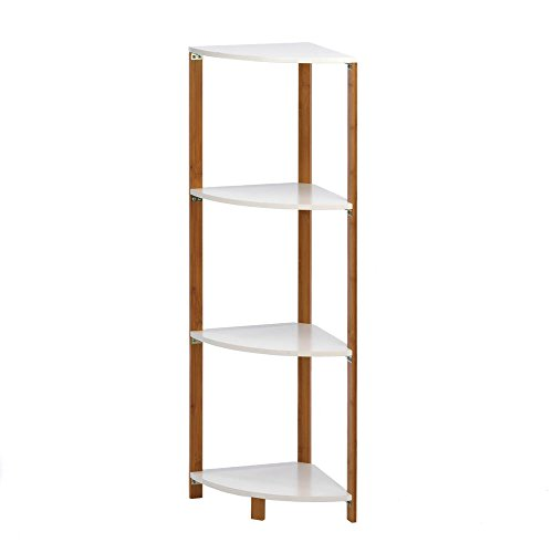 Bamboo Corner Unit with Four Shelves from Unbranded*