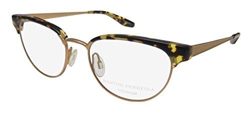 Barton Perreira Filly For Ladies/Women Cat Eye Full-Rim Shape Titanium Contemporary Eyeglasses/Eyewear (49-17-142, Brushed ()