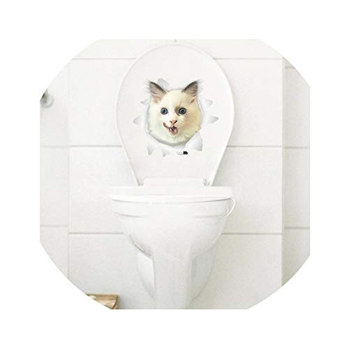 Alabama Crimson Tide Wallpaper - rather be Cats 3D Wall Sticker Toilet Hole View Vivid Dogs Bathroomation Animal Decals,Cat 19