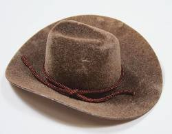 2a4f44b4fda Image Unavailable. Image not available for. Color  BROWN VELVET COWBOY HAT  4 INCH (12 pack)