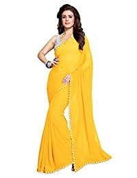 Mirchi Fashion Women's Mirror Border Latest Indian Saree Unstitched Blouse Piece