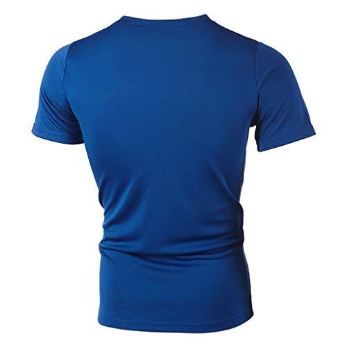 Courtes À Mode Manches Occasionnels T Hommes Lettre Pour De shirt Décontracté La Blue1 Sunnywill wxqRnZx