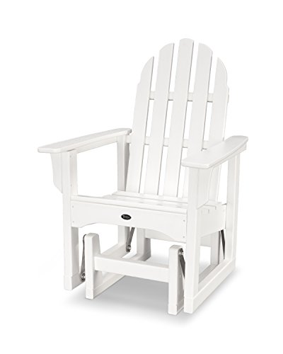 Trex Outdoor Furniture Cape Cod Adirondack Glider Chair in Classic White