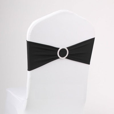 50PCS Spandex Chair Sashes Bows Elastic Chair Bands with Buckle Slider Sashes Bows for Wedding Decorations sy66 ()