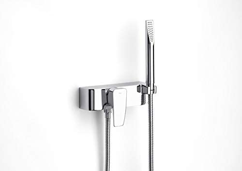 Roca Thesis - grifo monomando exterior para ducha con ducha de ...