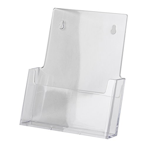 "Clear-Ad - LHW-M111 - Acrylic Wall Mount Bifold Brochure Holder for 6"" Literature (Pack of 6)"