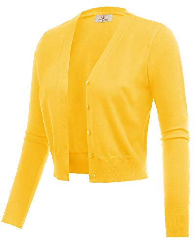 - GRACE KARIN Women Cropped Bolero Shrug Jacket for Evening Dress Yellow Size L CL2000-6